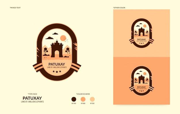 Логотип патуксай, национальный символ лаоса