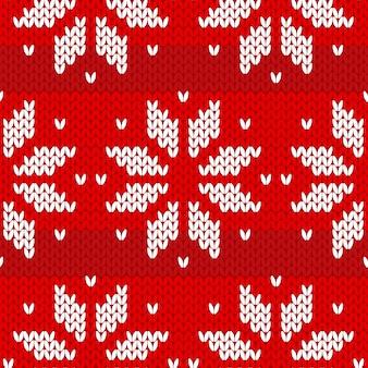 赤いセーターパターン