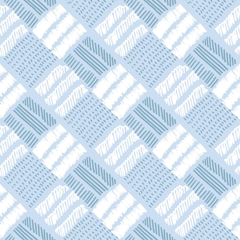 市松模様の淡い色ベクトルのシームレスパターン