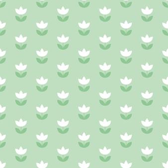 Бледный цвет голландского тюльпана, повторяющийся мотив. простой лаконичный дизайн иллюстрации.