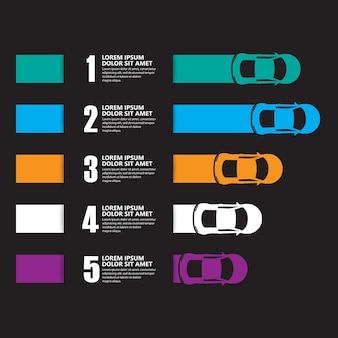 Гоночный автомобиль инфографика