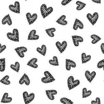 Бесшовные векторные шаблон с сердечками.