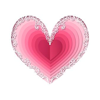 バレンタインの日、抽象的な心。