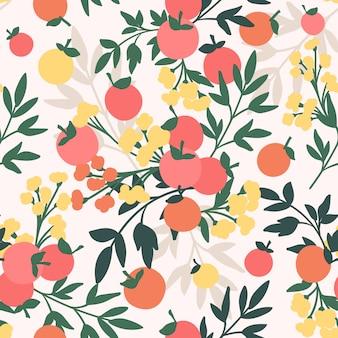 Бесшовный фон с яблоками