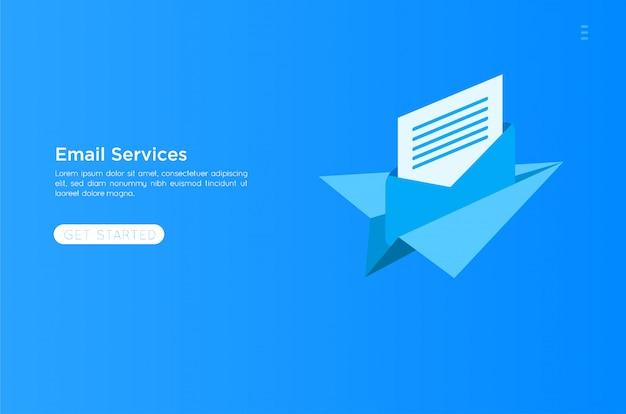 メールサービスの図