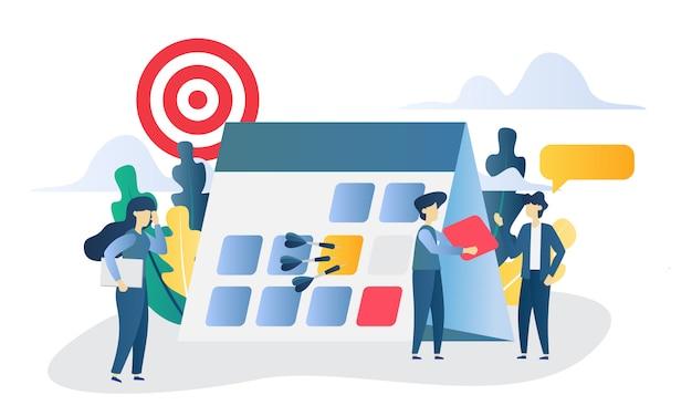 Бизнес-концепция целевой плоской иллюстрации