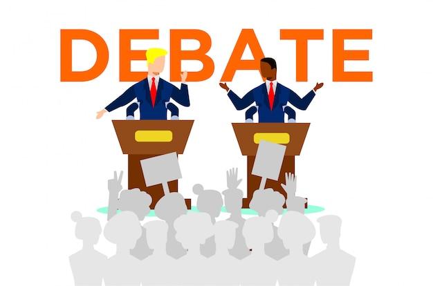 政治討論の図