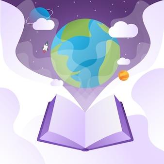 Плакат ко всемирному дню книги