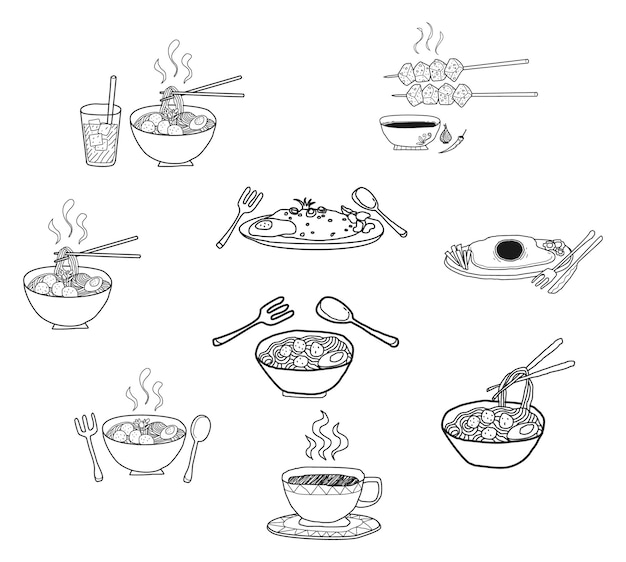 アジア料理メニュー
