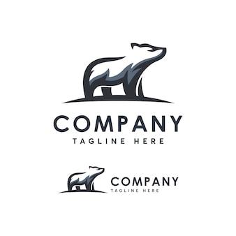 クマのロゴのテンプレート小話アイコン