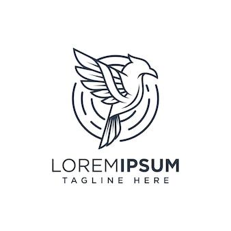 鳥の線のロゴのテンプレートイラストアイコン