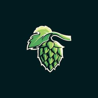 醸造のロゴのテンプレート