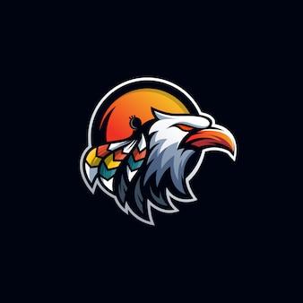 Шаблон логотипа спортивного орла