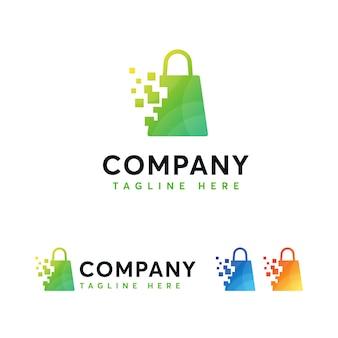 デジタルオンラインショップのロゴのテンプレート