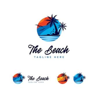 プレミアムビーチのロゴのテンプレート
