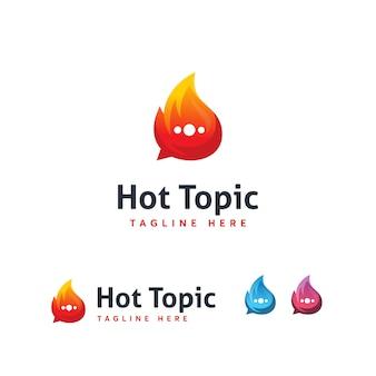 Шаблон логотипа горячей темы