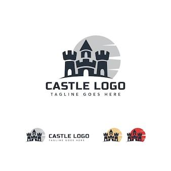 城のロゴのテンプレート