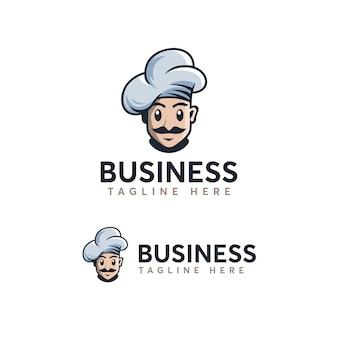シェフのロゴのテンプレート