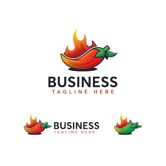Шаблон логотипа чили
