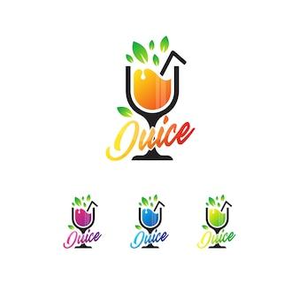 Шаблон логотипа сока