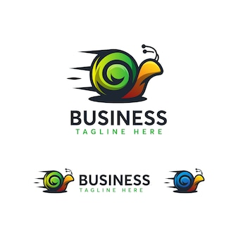 高速カタツムリのロゴのテンプレート