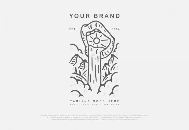 Губу «водопад» с премиальным стилем линии, этот дизайн может быть напечатан на рубашках, жакетах, бумаге и для других товаров