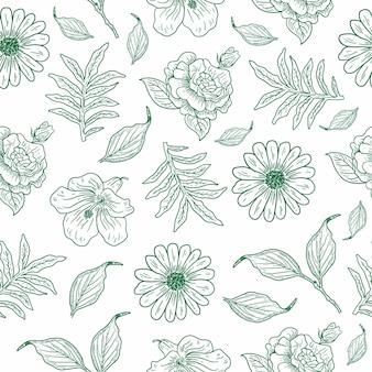 Старинные цветочные иллюстрации