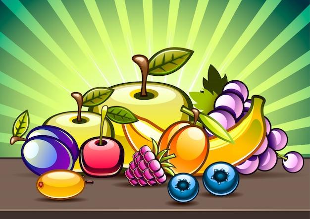 テーブルの上の果物