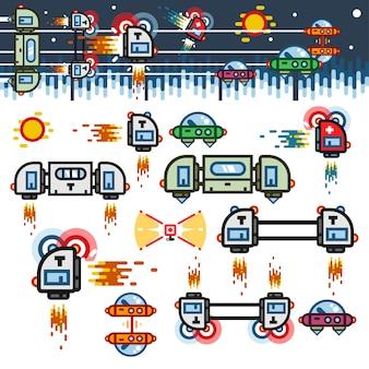 宇宙船フラットゲームレベルキット