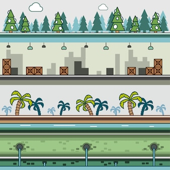 ビデオゲームのための視差の背景