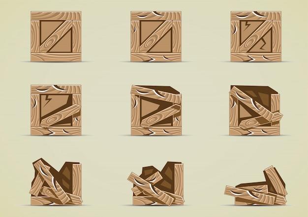 Сломанная коричневая коробка