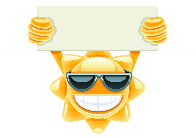 メッセージ用の紙と太陽