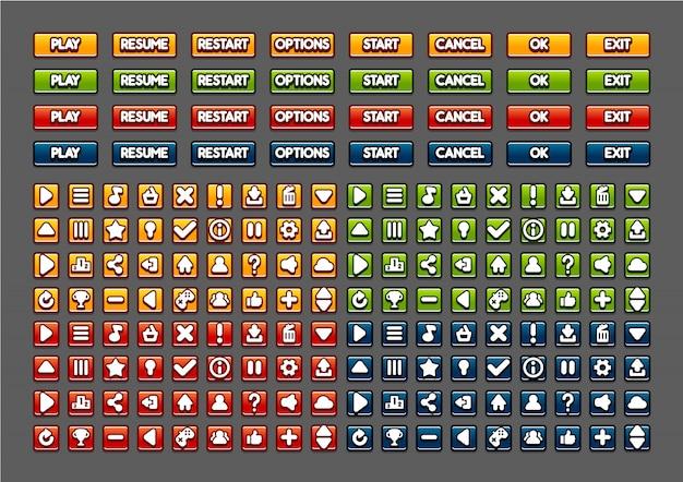 Мультипликационные кнопки для создания видеоигр