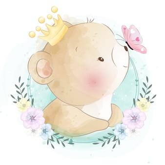 かわいい小さなクマの肖像画