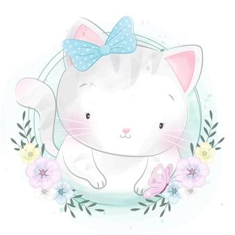 かわいい子猫の肖像画