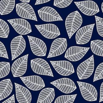 Листья бесшовные модели.