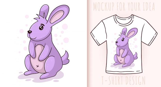 Маленький милый заяц.