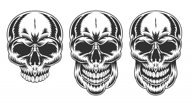 人間の頭蓋骨のヴィンテージ。