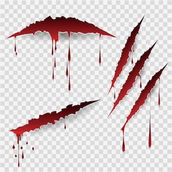 血まみれの傷跡