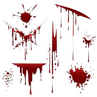 Кровавый ужас неряшливые брызги
