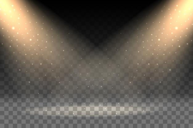 透明な背景の光線
