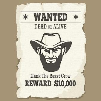 死んでいるか生きている西部のポスターを募集