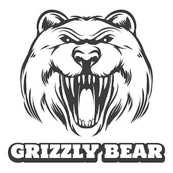 Логотип гризли