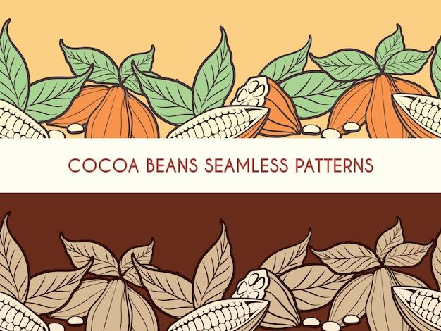 ココア豆のシームレスパターン