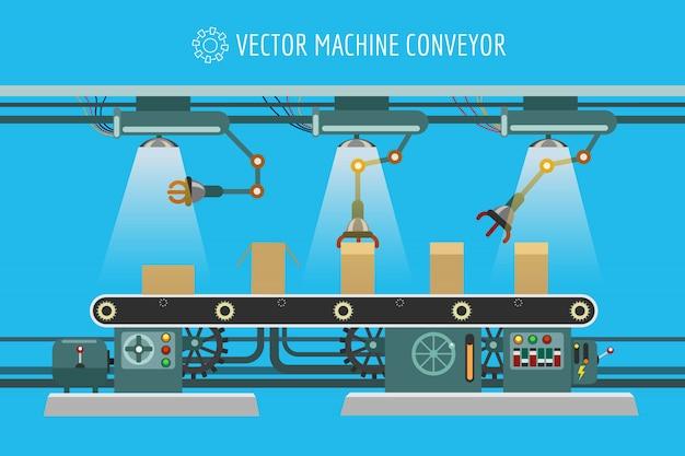 機械工業工場のコンベアベルト