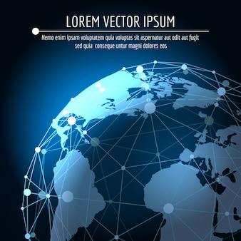 グローバル接続の抽象的な背景