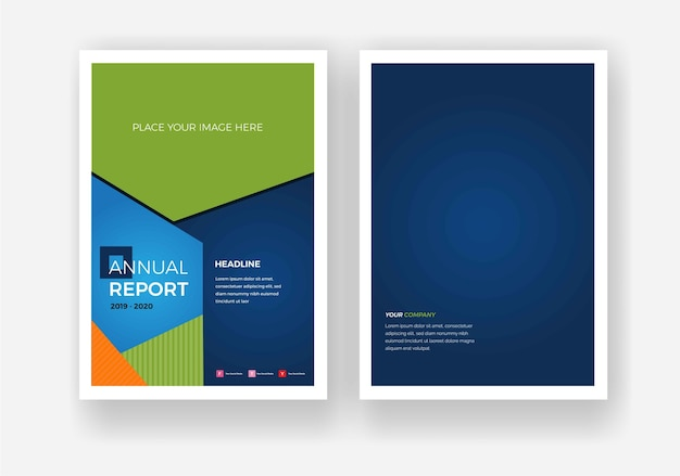 年次報告書のパンフレット