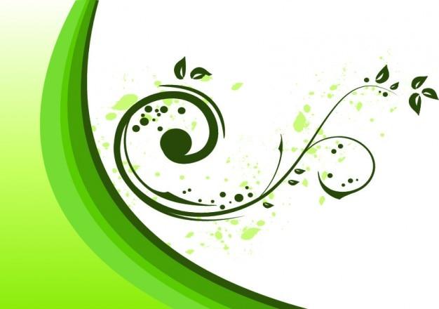 Процветать орнамент в зеленый на белом
