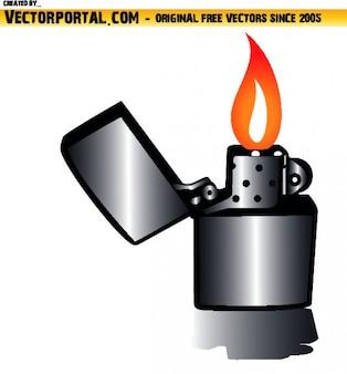 Зажигалка с пламенем