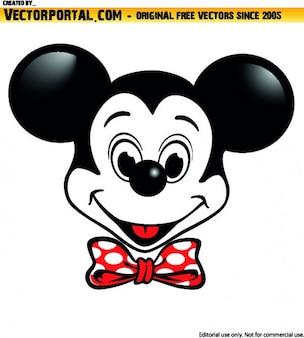 ミッキーマウスのキャラクターイラスト